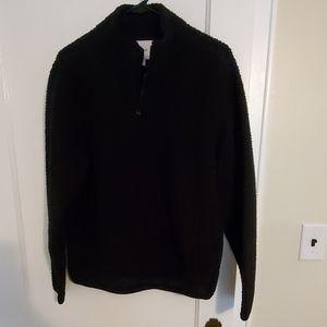 Old Navy 1/4 zip black sherpa pullover